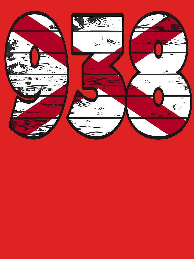 LOVE THAT  938 LIFE - YOUR FAVORITE AREA CODE WITH A HEAVY WOOD OVERLAY DISTRESS by NotYourDesign