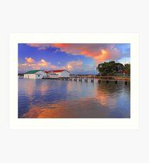 Mosman Bay Boatsheds  Art Print