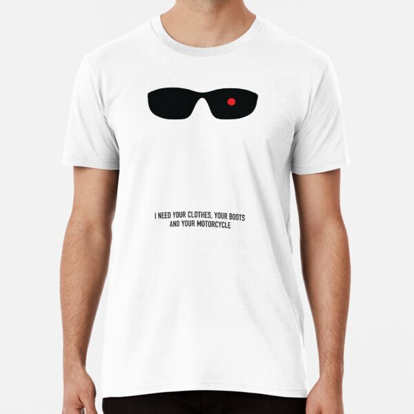 """tus botas y tu moto """" Camiseta premium"""