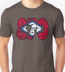LOVE THAT  870 LIFE - YOUR FAVORITE AREA CODE WITH A HEAVY WOOD OVERLAY DISTRESS Unisex T-Shirt