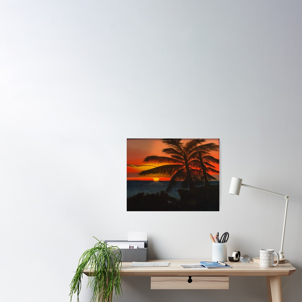 Evening Silhouette Poster