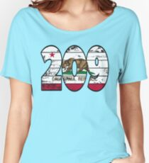 LOVE THAT  209 LIFE - YOUR FAVORITE AREA CODE WITH A HEAVY WOOD OVERLAY DISTRESS Women's Relaxed Fit T-Shirt