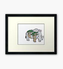 Sly Rhino Framed Print