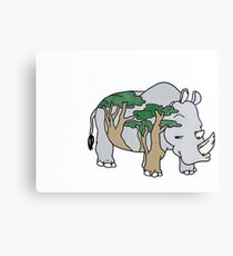 Sly Rhino Canvas Print
