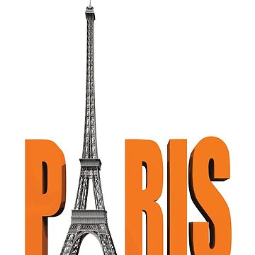 PARIS ORANGE Pop Art by BruceALMIGHTY