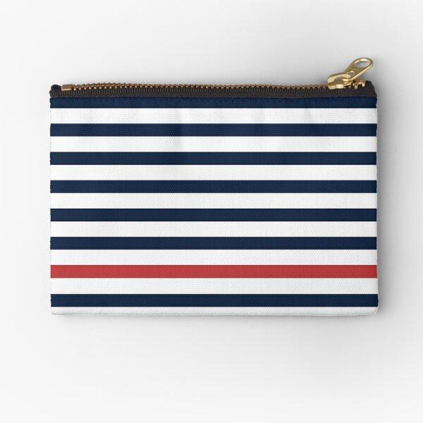Summer Stripes Midnight + Cherry Zipper Pouch