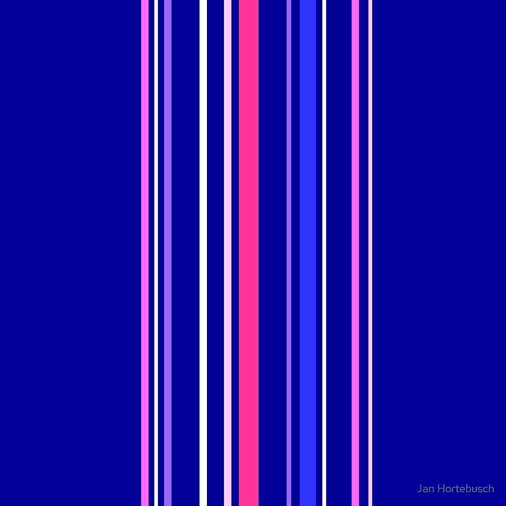 Vertical Stripes Blue by Jan Hortebusch