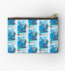 flower dream inspired by a dream| mixed media watercolor art Studio Pouch