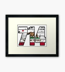 LOVE THAT  714 LIFE - YOUR FAVORITE AREA CODE WITH A HEAVY WOOD OVERLAY DISTRESS Framed Print