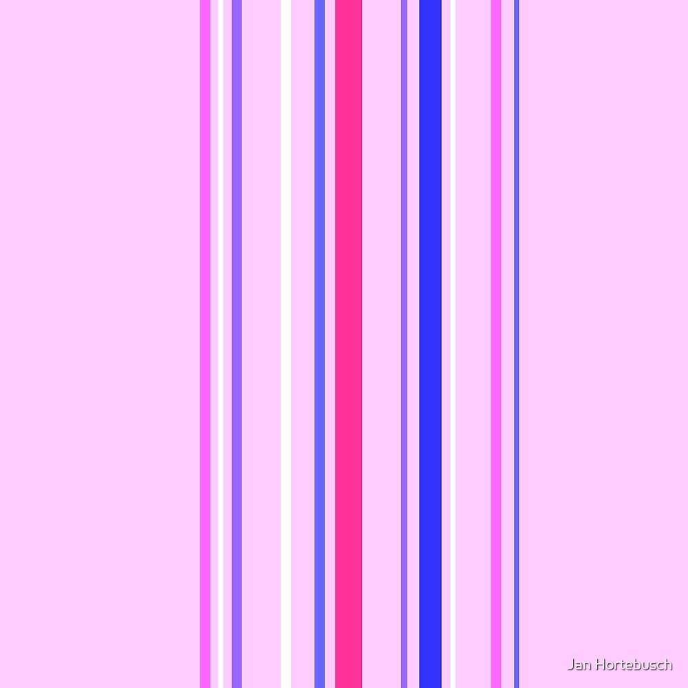 Vertical Stripes Rose by Jan Hortebusch