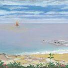 Calm Beach by Leslie Gustafson