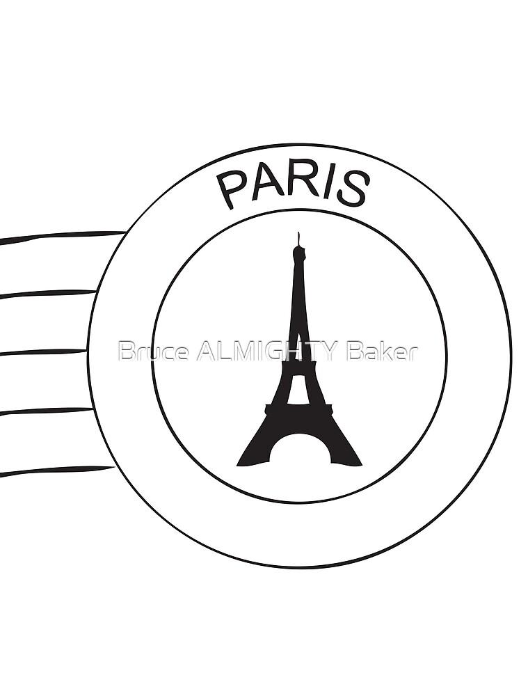 PARIS POSTMARK Pop Art by Bruce ALMIGHTY Baker