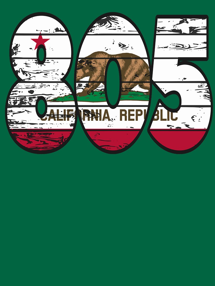 LOVE THAT  805 LIFE - YOUR FAVORITE AREA CODE WITH A HEAVY WOOD OVERLAY DISTRESS by NotYourDesign