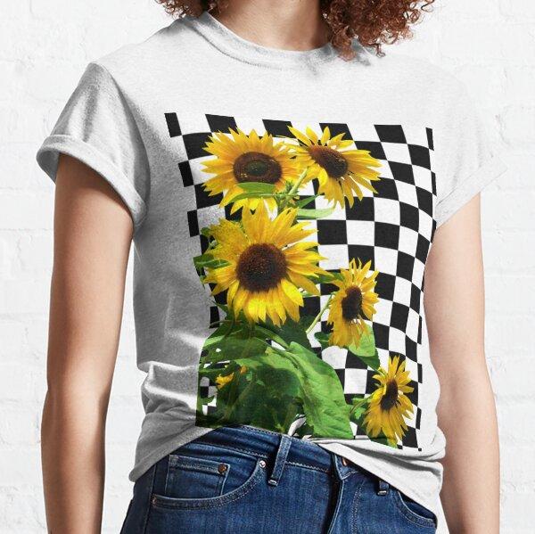 Checkerboard Sunflower Classic T-Shirt