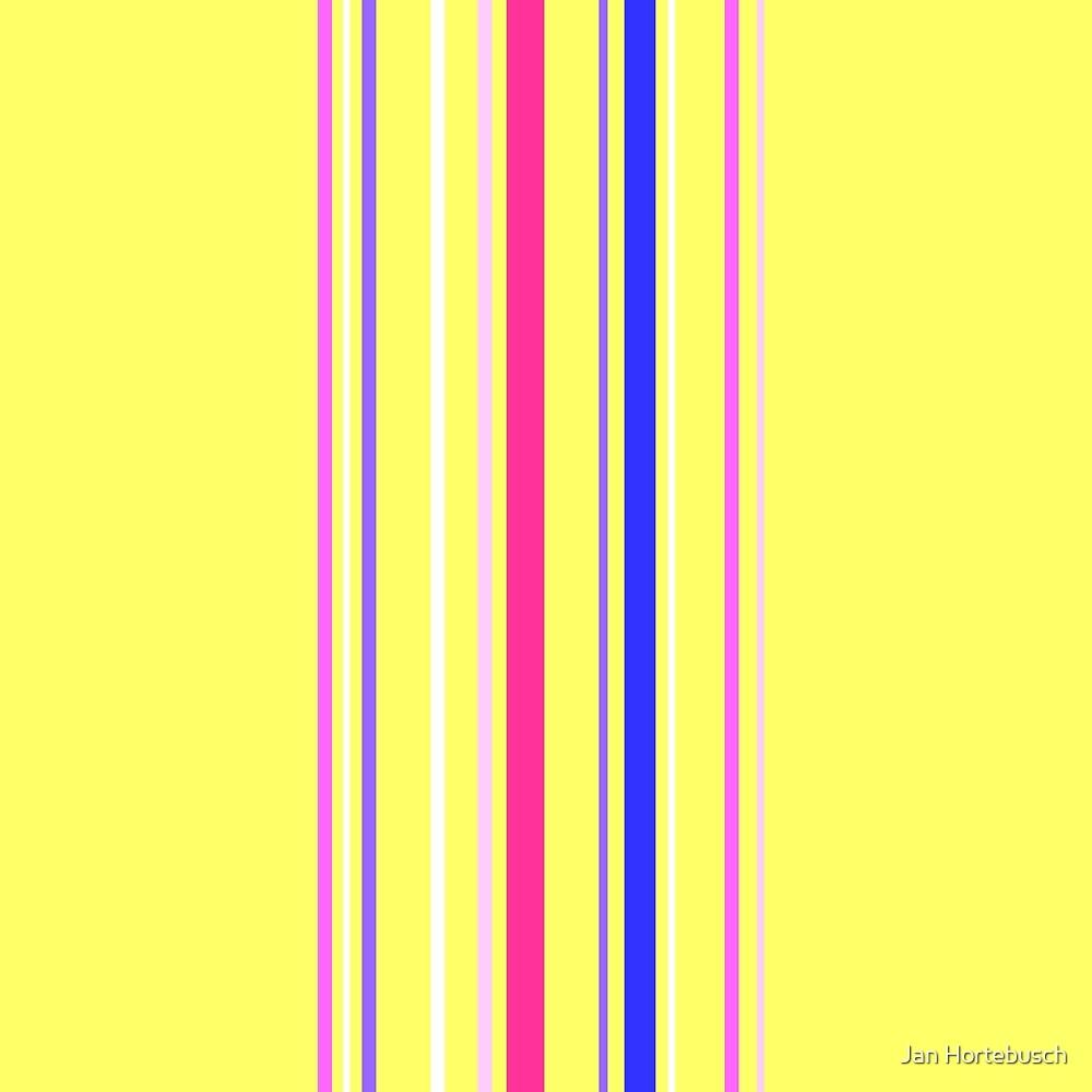 Vertical Stripes Yellow by Jan Hortebusch