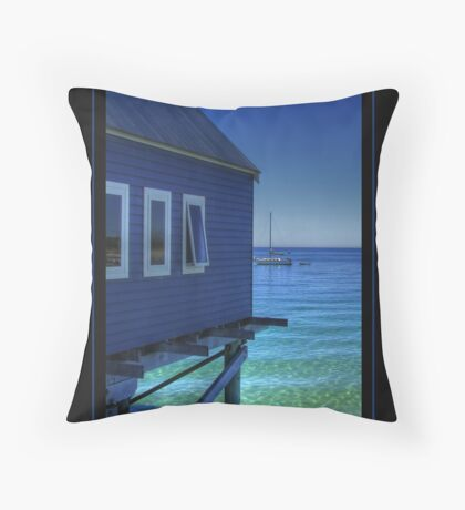 Blue View... Throw Pillow