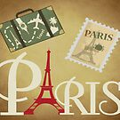 PARIS SIUTCASE Pop Art by Bruce ALMIGHTY Baker