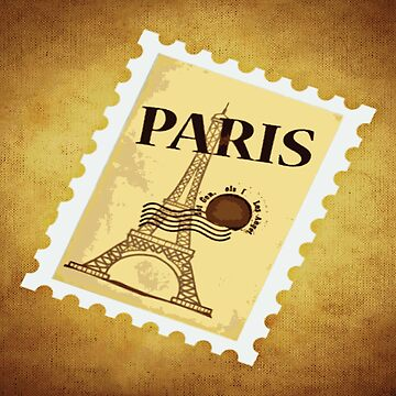 PARIS STAMP Pop Art by BruceALMIGHTY