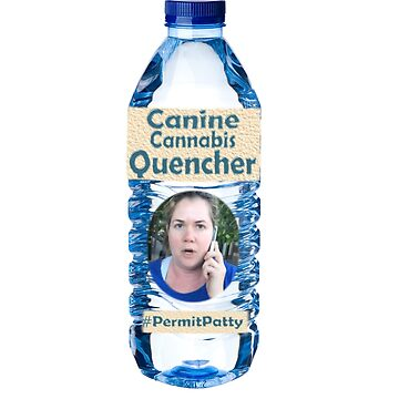 #permitpatty Water Bottle T-shirt by caccitore