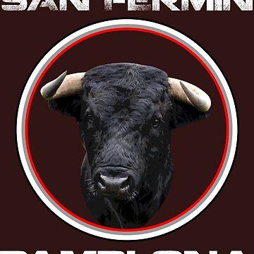 San Fermin Toro Pamplona Spain T-shirt de Tropicalis