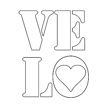 VELO / LOVE TEE by colinwilson