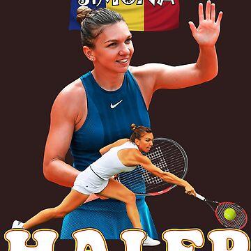 Simona Halep Romania Tennis Tshirt de Tropicalis