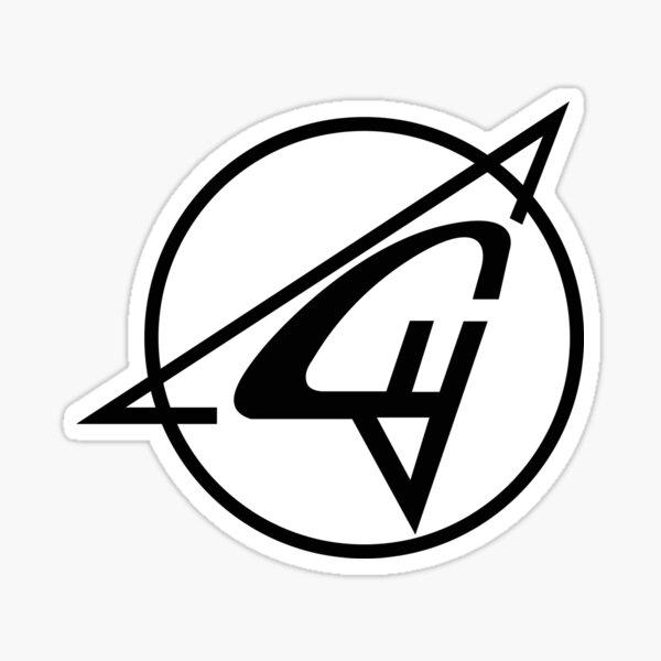 Sukhoi Aircraft Logo (Black) Sticker