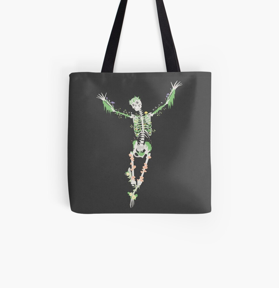 I Don't Care, I'm Dead All Over Print Tote Bag
