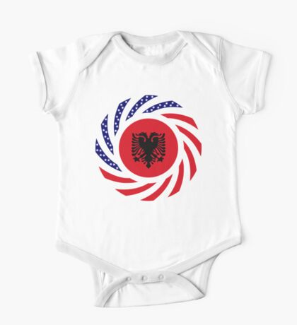 Albanian American Multinational Patriot Flag Series Kids Clothes