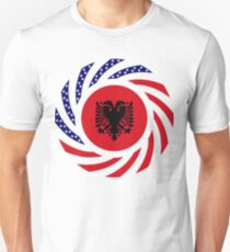 Albanian American Multinational Patriot Flag Series T-Shirt