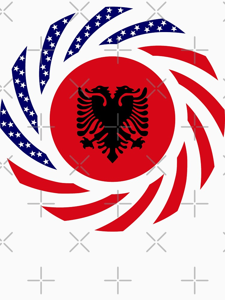 Albanian American Multinational Patriot Flag Series by carbonfibreme