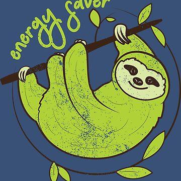 Energy Saver - Sloth by MudAndMarrow