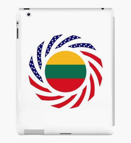Lithuanian American Multinational Patriot Flag Series iPad Case/Skin
