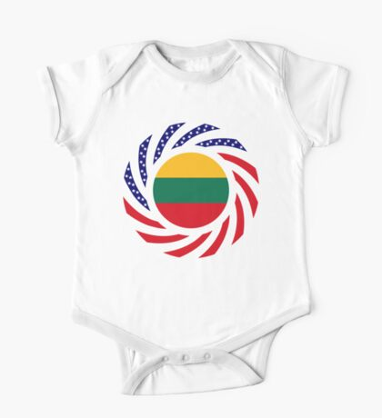 Lithuanian American Multinational Patriot Flag Series Kids Clothes