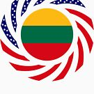 Lithuanian American Multinational Patriot Flag Series by Carbon-Fibre Media