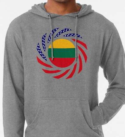 Lithuanian American Multinational Patriot Flag Series Lightweight Hoodie