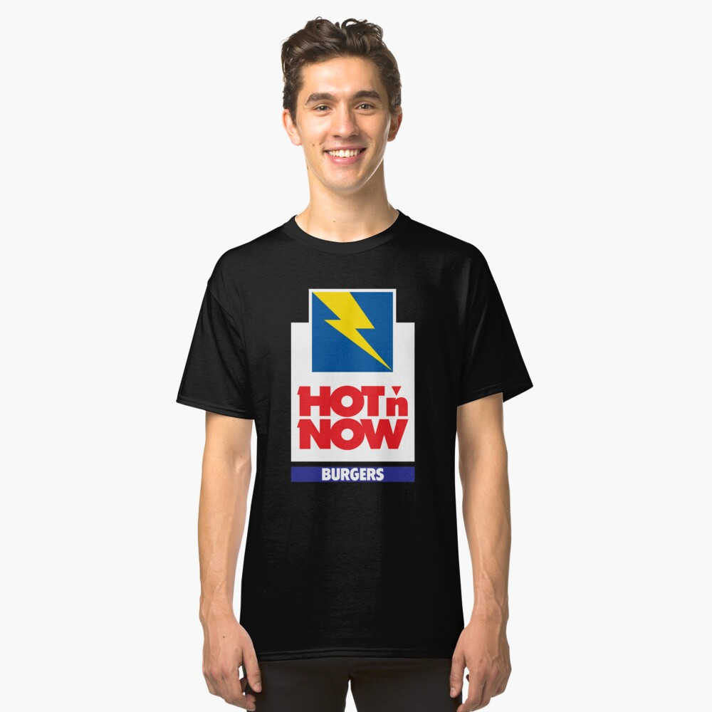 HOT N JETZT BURGER Tshirt Defunct Burger Chain Shirt Classic T-Shirt