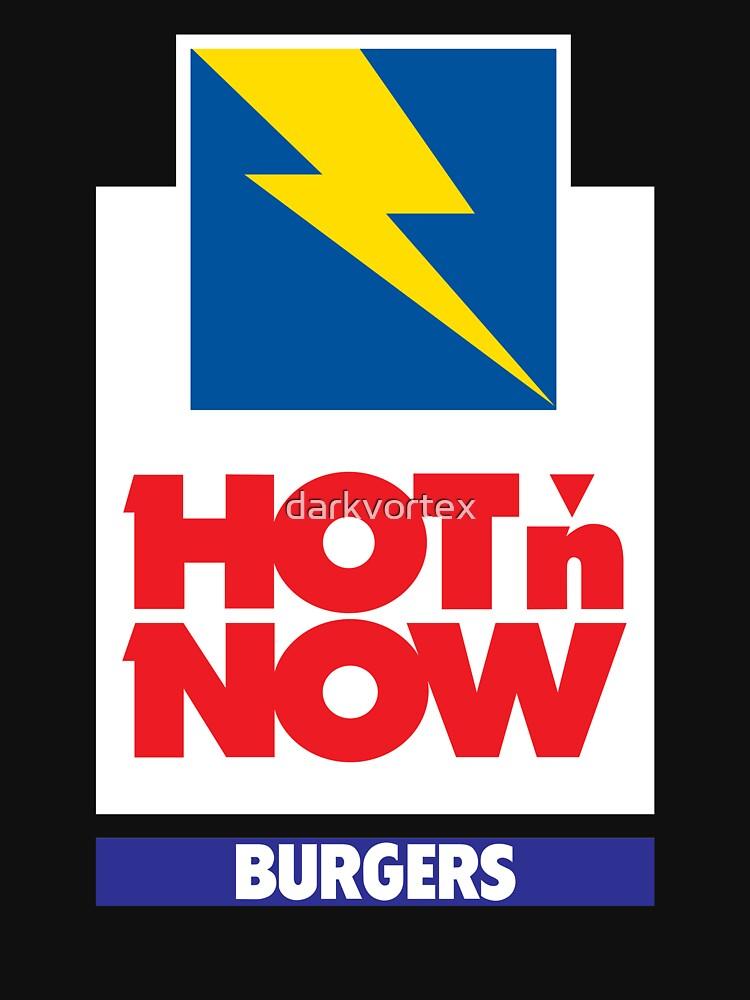 HOT N JETZT BURGER Tshirt Defunct Burger Chain Shirt von darkvortex