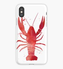 Watercolor Red Lobster iPhone Case/Skin