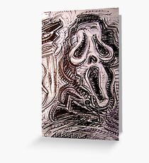 Ghostface Greeting Card