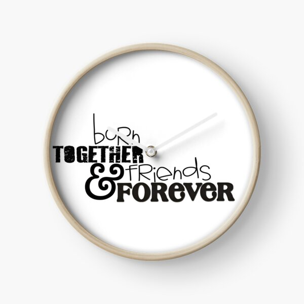 TWINS Born Together & Friends Forever Clock