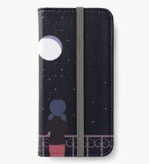 Wunderbarer Marienkäfer - Balkon-Szene iPhone Flip-Case/Hülle/Klebefolie
