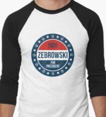 LPOTL Zebrowski For President Men's Baseball ¾ T-Shirt