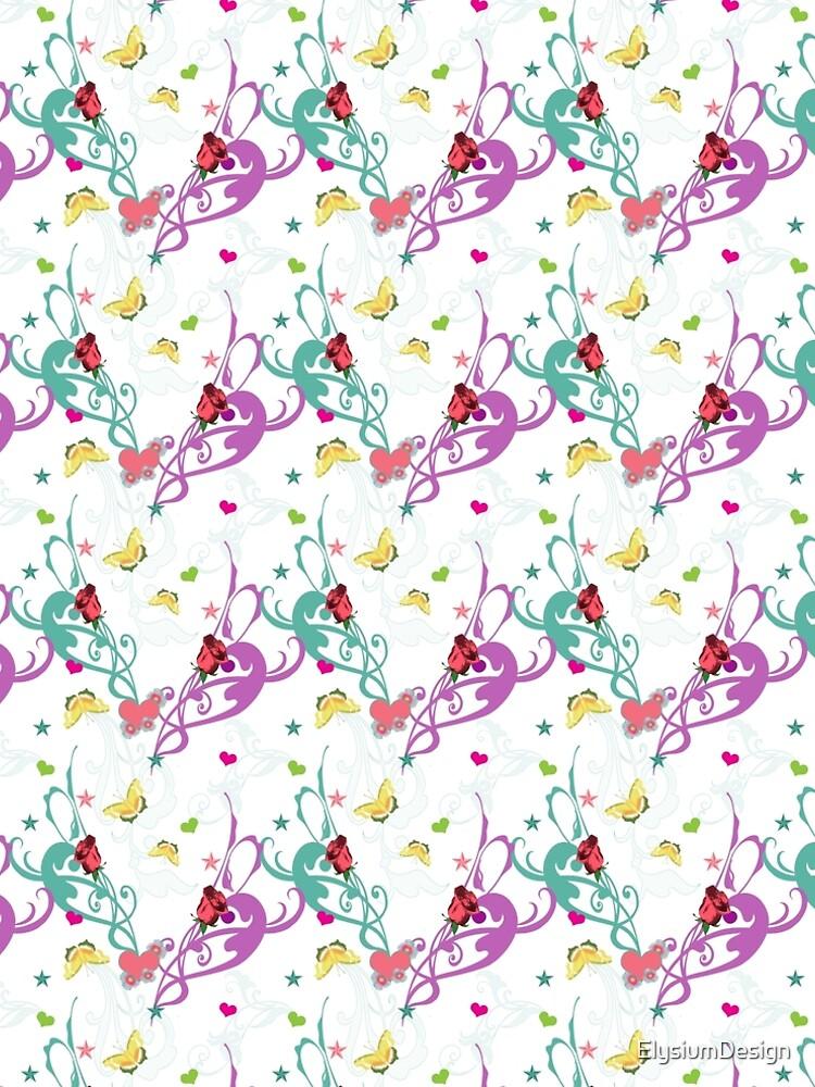Colourful Flourishes Garden by ElysiumDesign