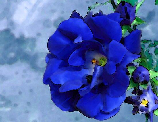Blue Rose by nikspix