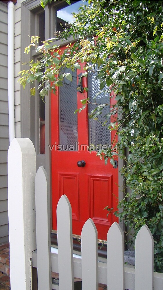 Red door by visualimagery