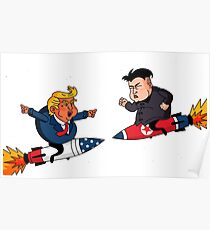 Trump VS Kim Poster