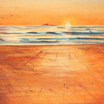 Paw Prints on Sister's Beach by Ian Shiel  by Ruckrova