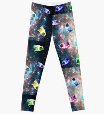 Multicolor Pugs in Space Leggings