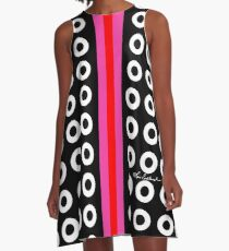 Dots and Stripes A-Line Dress